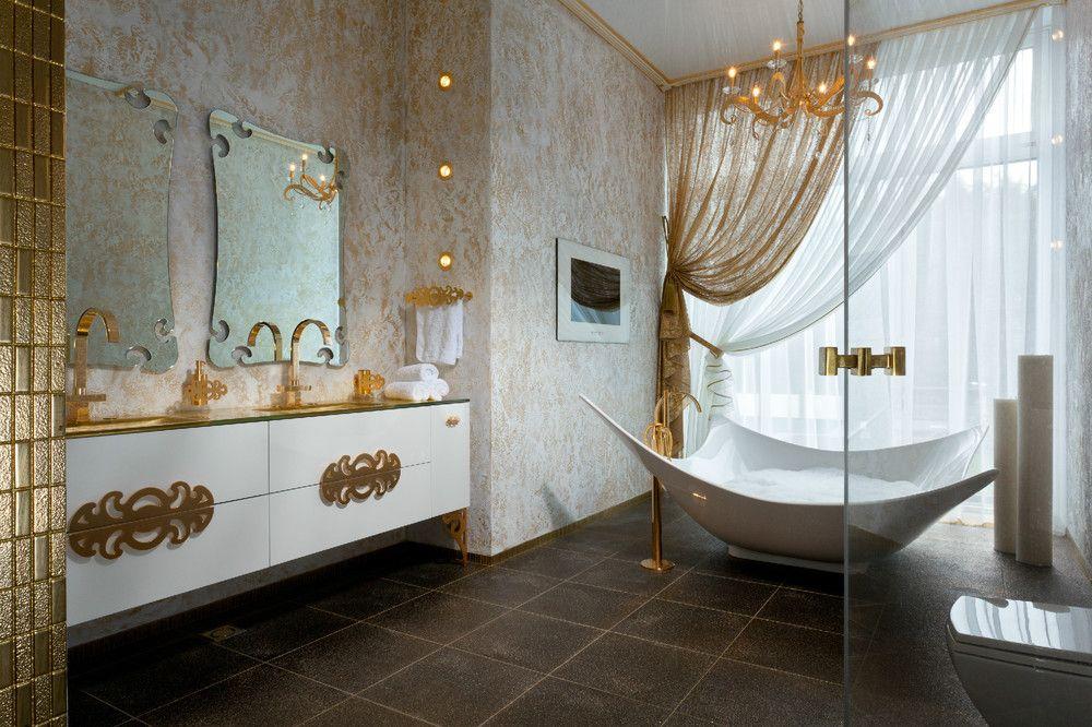 Fanciful Interior Decor | Fresh Gold White Bathroom Decor With Fanciful  Idea Listed In: Bathroom ... | Pinterest | White Bathroom Decor, Bathroom  Interior ...