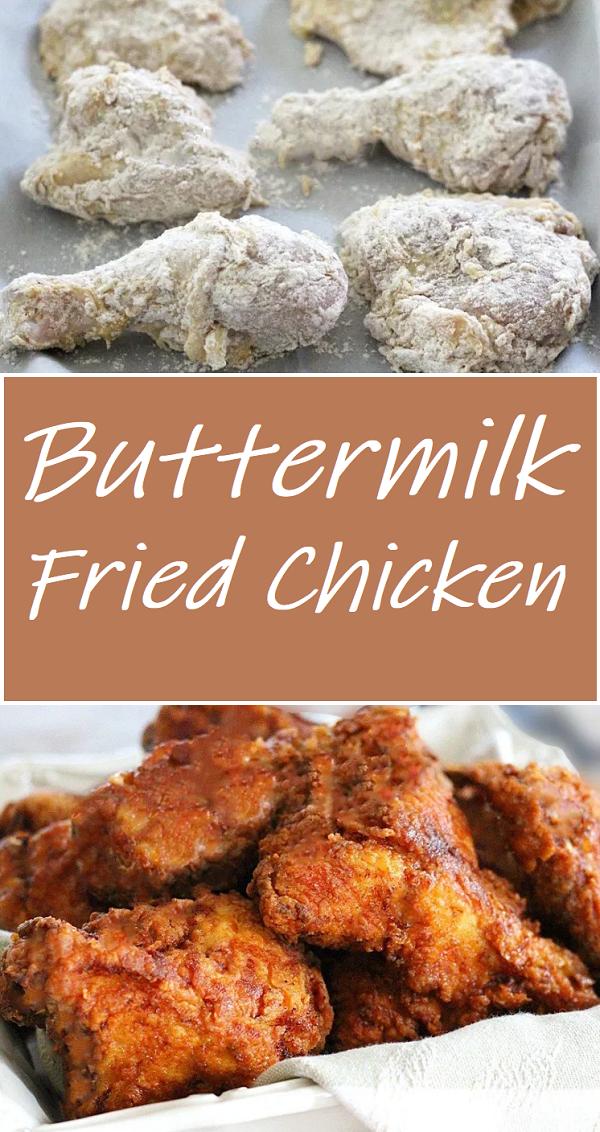 Buttermilk Fried Chicken Buttermilk Fried Chicken Chicken Wing Recipes Fried Fried Chicken Recipes