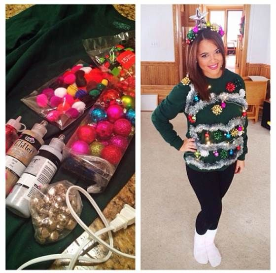 Tacky Christmas Party Outfit Ideas Part - 21: With These DIY Ugly Christmas Sweater Ideas, Youu0027ll Show People You Really  Know How To Get Down For Christmas. Make Your Prize-winning Fugly Sweater  Today!