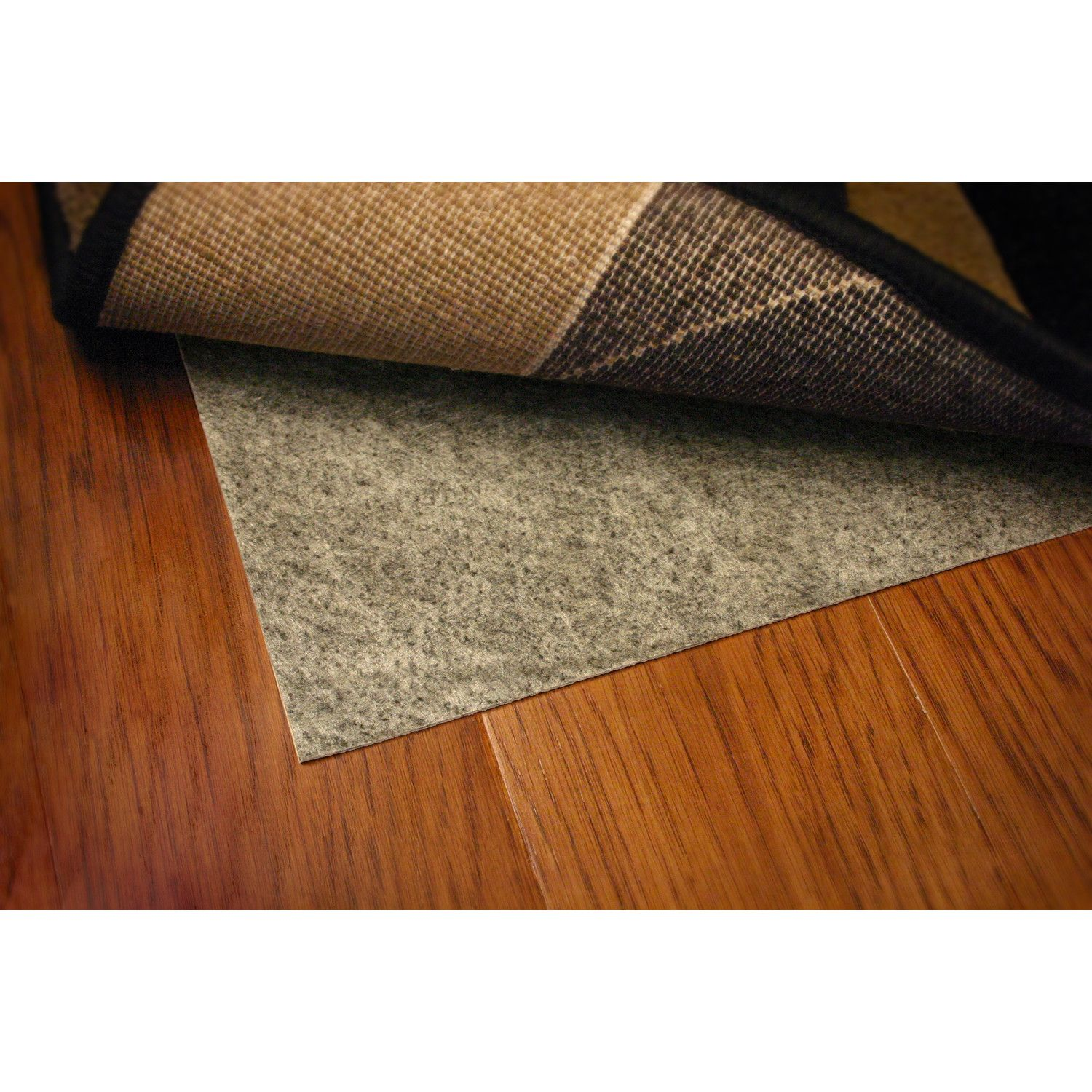 sketch of 3 recommendations for best rug pad for hardwood floors