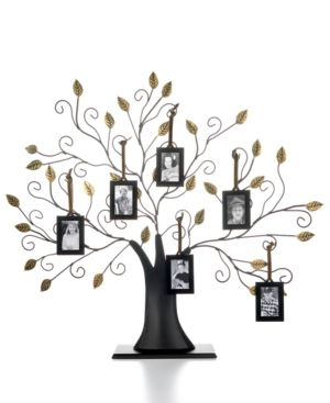 Family Tree With Set Of 6 Hanging Frames For The Home Family