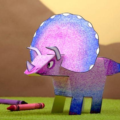 My Pet Triceratops Dinosaur Paper Craft
