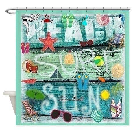 Beach Shower Curtain On Cafepress Com