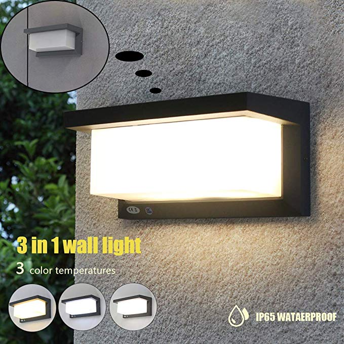 Amazon Com Shinbeam Outdoor Wall Pack Lights Led Wall Sconces Ip65 Waterproof Lighting Fixture 3 Speed Dimmable Wal Wall Fixtures Outdoor Walls Porch Lighting