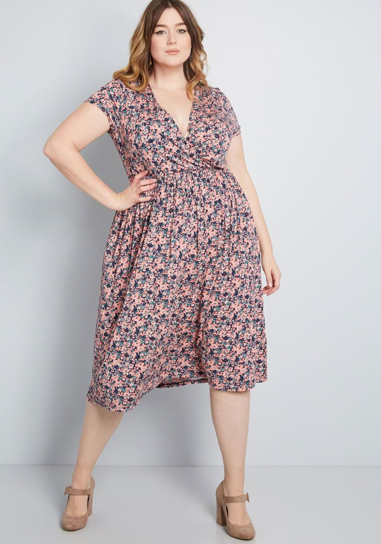 24096f50de0 Easily Adored Knit Dress in Navy Floral
