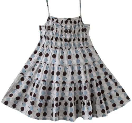 Girls Dress Smocked Grey Beach Sundress Party Kids Clothes Size 2-5 New