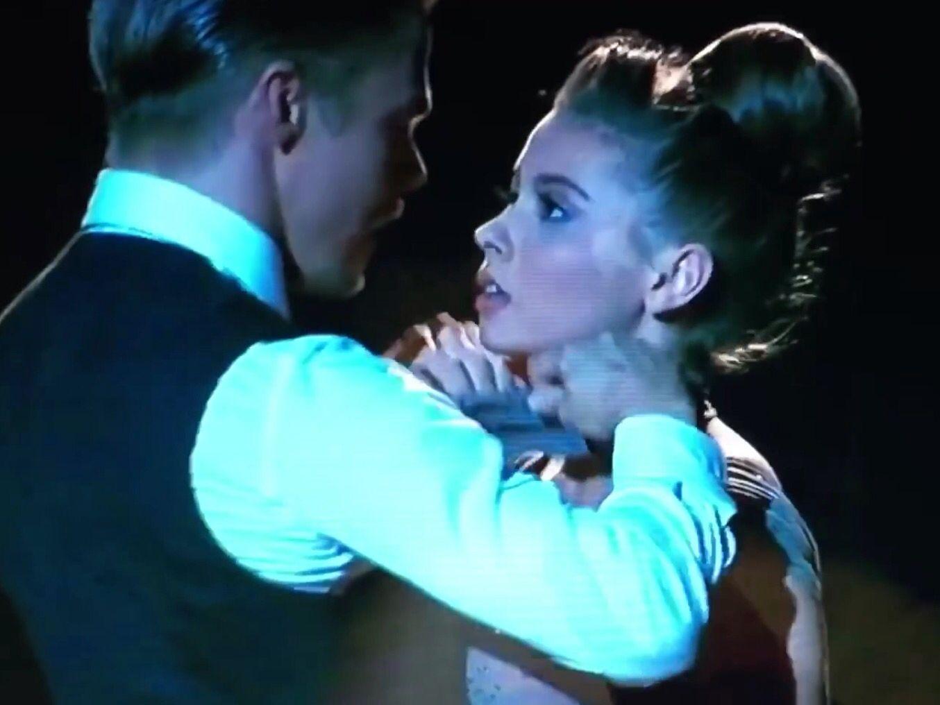 Bindi Irwin and Derek Hough in Dancing with the Stars Season 21.