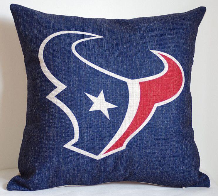 Nfl Houston Texans Pillow Cover Team Logo Nfl Houston Texans