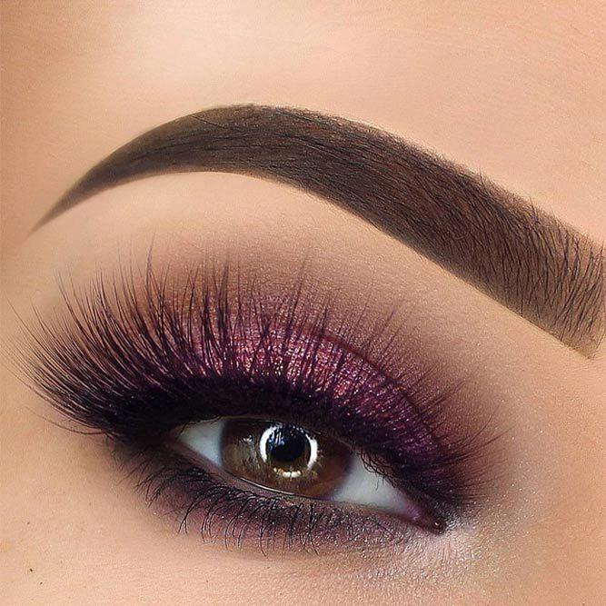 Purple Shimmer Smokey Makeup