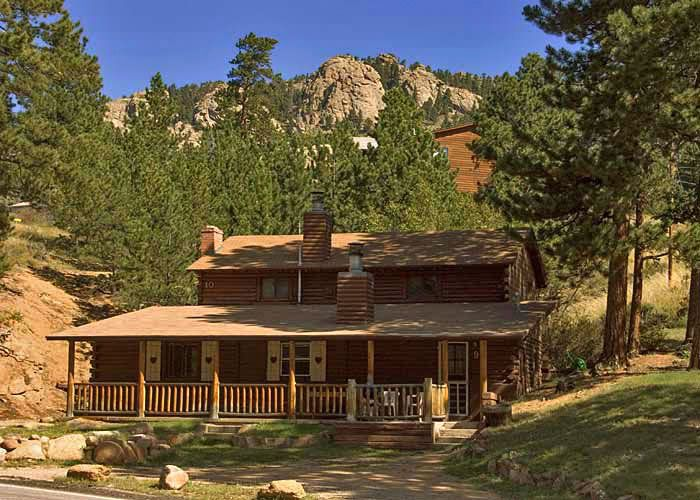 Black Hawk Lodge S Log Cabin Outside Rocky Mountain National Park Estes