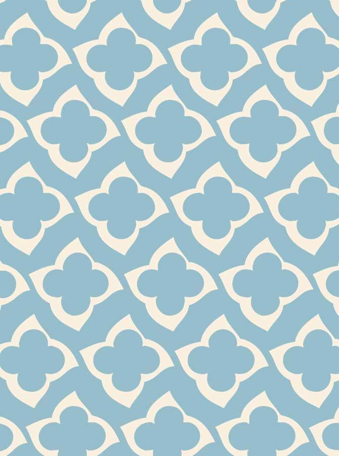 2740 Printed Teal Morrcan Pattern Photo Backdrop