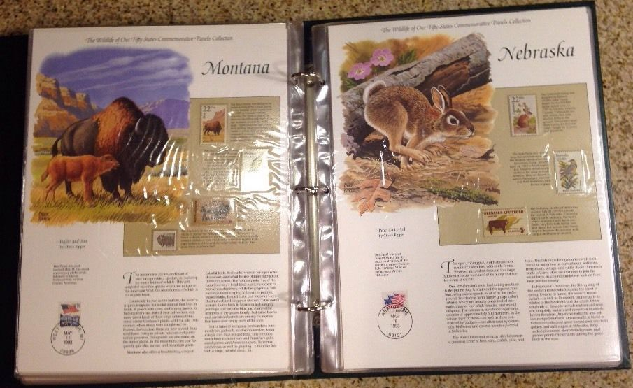 Postal Commemorative Wildlife of our Fifty States Commemorative Panels w/Box