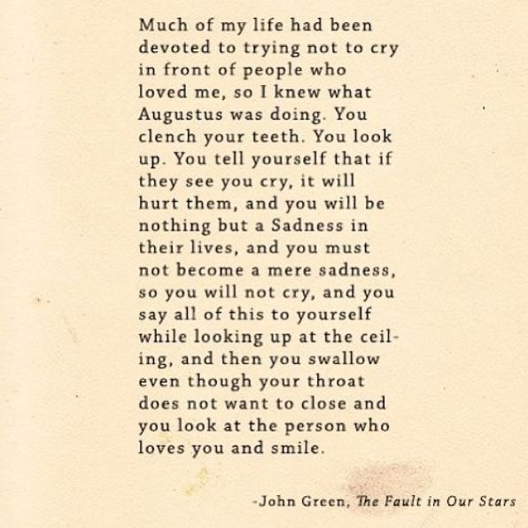 The Fault In Our Stars Quotes Movie: The Fault In Our Stars Augustus Waters John Green