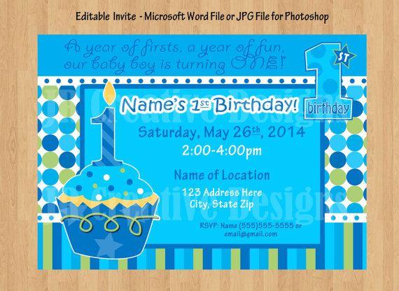1st birthday party package Boy 1st birthday boy birthday party Sweet - best of invitation for 1st birthday party free