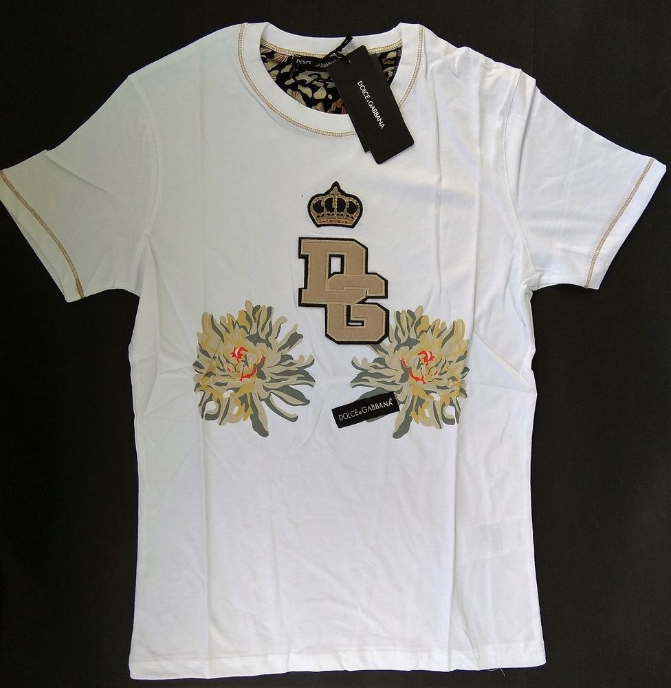 366abea66450 New DOLCE GABBANA Men s T-Shirt ITALY Size M D G DG Crown King Cotton  Prince  fashion  clothing  shoes  accessories  mensclothing  shirts (ebay  link)