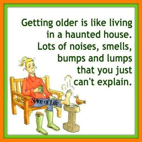 Getting older is like living in a haunted house. Lots of
