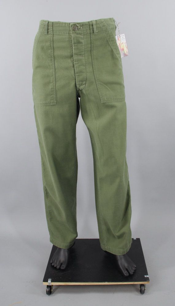 ec6e71c527e 1960s Vintage US Army Pants   Vietnam War Era   OG-107 Trousers   Cotton