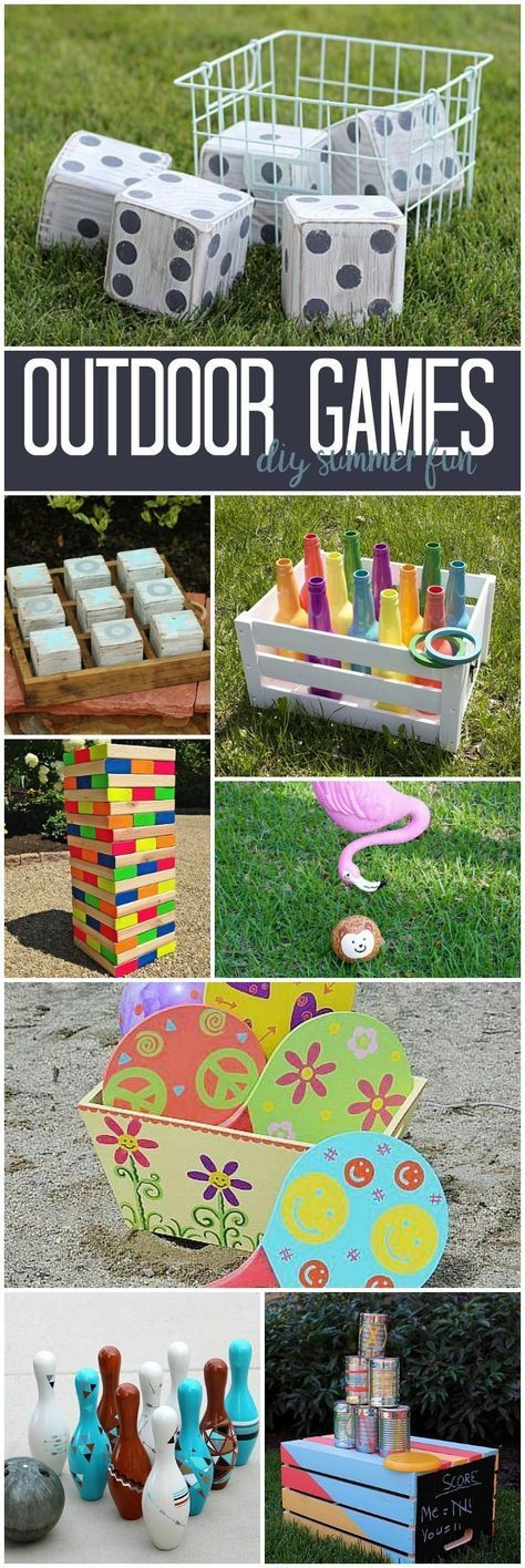 DIY Outdoor Games from the DecoArt Project Gallery #decoartprojects #diyornaments