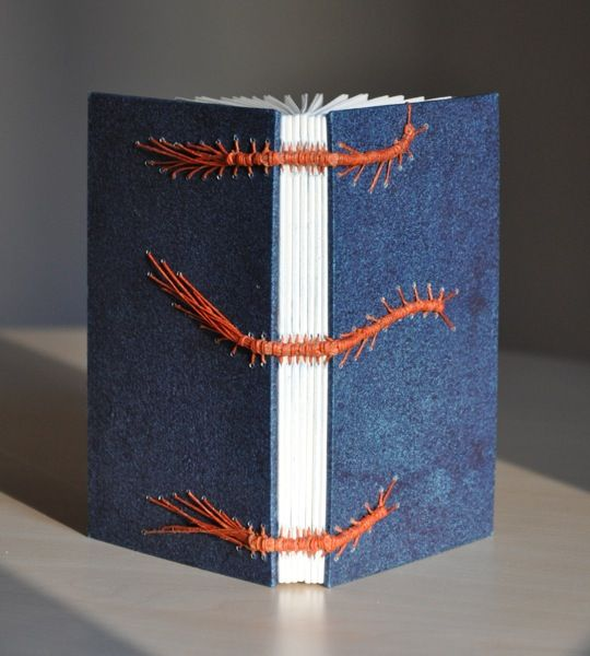 Caterpillar Binding Hand Bound Book