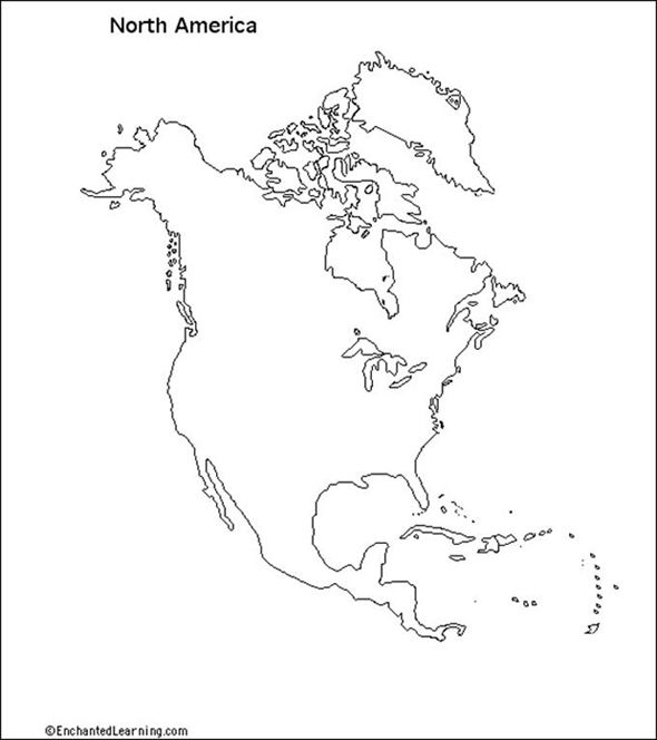 Map Of America Drawing.North America Map Drawing Using Grid Google Search Waldorf