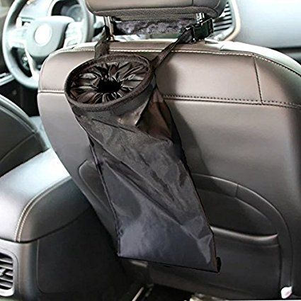 Foldable Car Litter Trash Bag Garbage Can Leak Proof Bin Headrest Auto Organizer