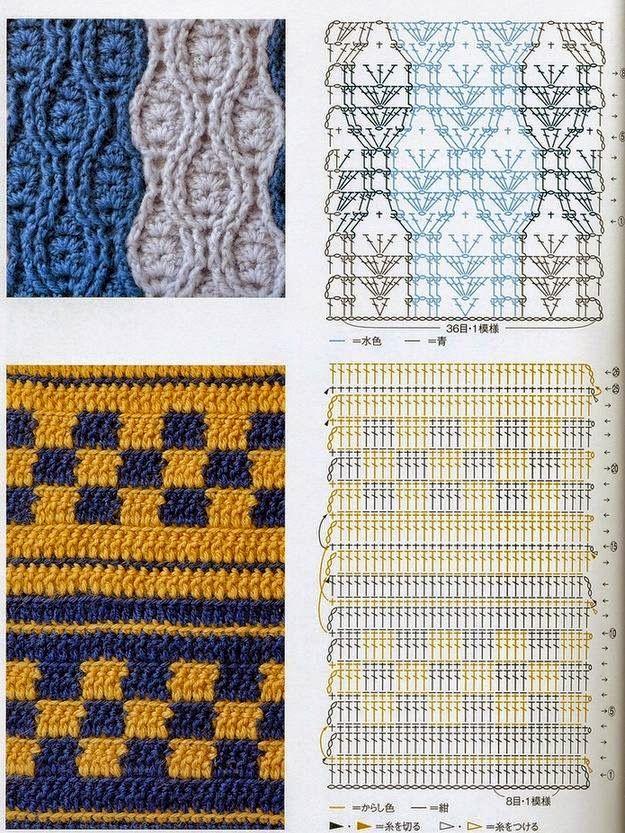 Estos patrones contienen combinaciones de puntos simples que forman ...