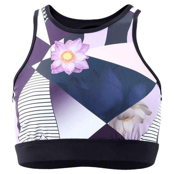 Noli Yoga Aria Bra ($46) ❤ liked on Polyvore featuring activewear, sports bras, yoga sports bra, blue sports bra and yoga activewear