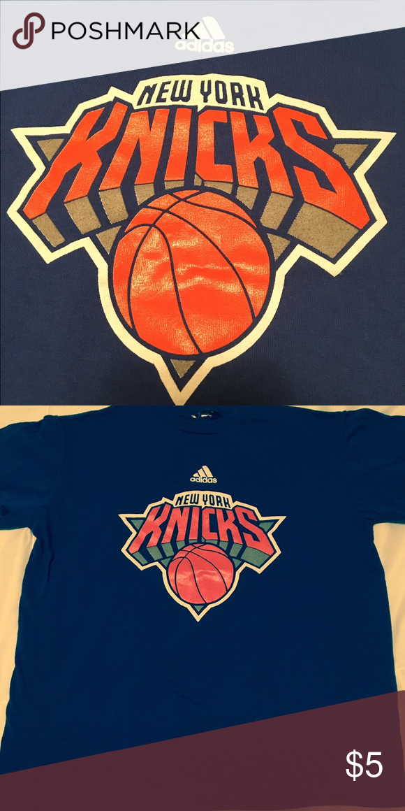 8da8b42d265d ♥ 🏀Adidas New York Knicks Basketball Team T-Shirt Adidas New York Knicks  NBA team t-shirt. Child s medium