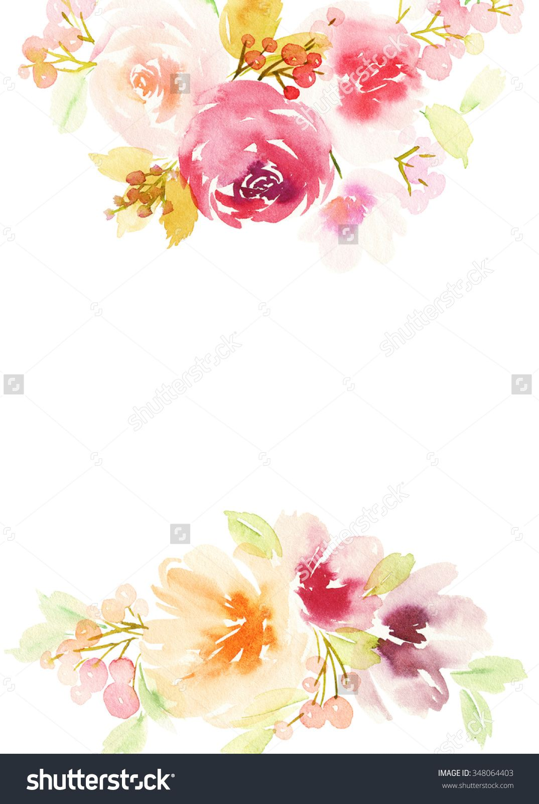 Stock Photo Greeting Card With Flowers Pastel Colors Handmade