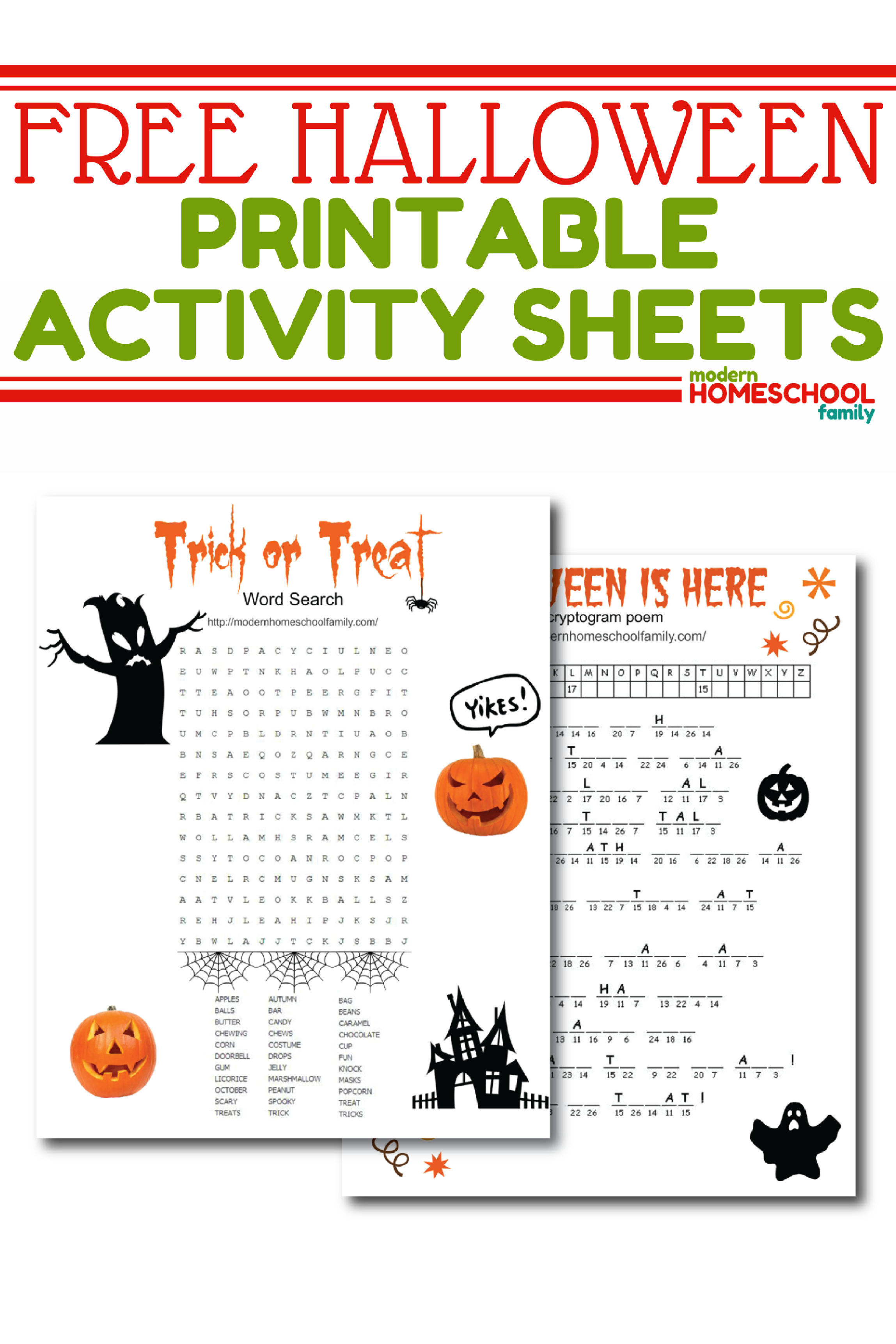 Free Halloween Printable Activity Sheets With Images