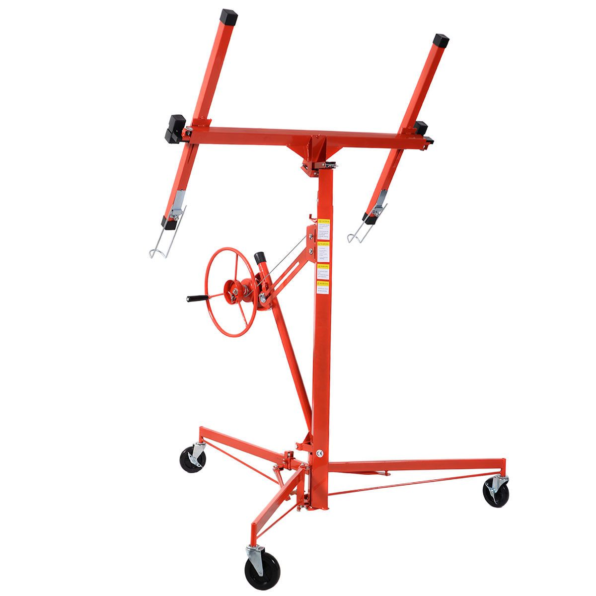 11' Drywall Lift Panel Hoist Dry Wall Jack Rolling Caster