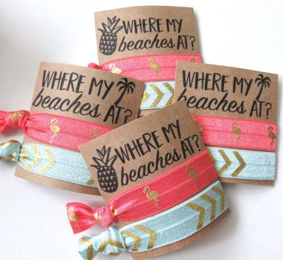 Beach Wedding Gift Bag Ideas: Where My Beaches At? Beach Bachelorette Party , Nautical