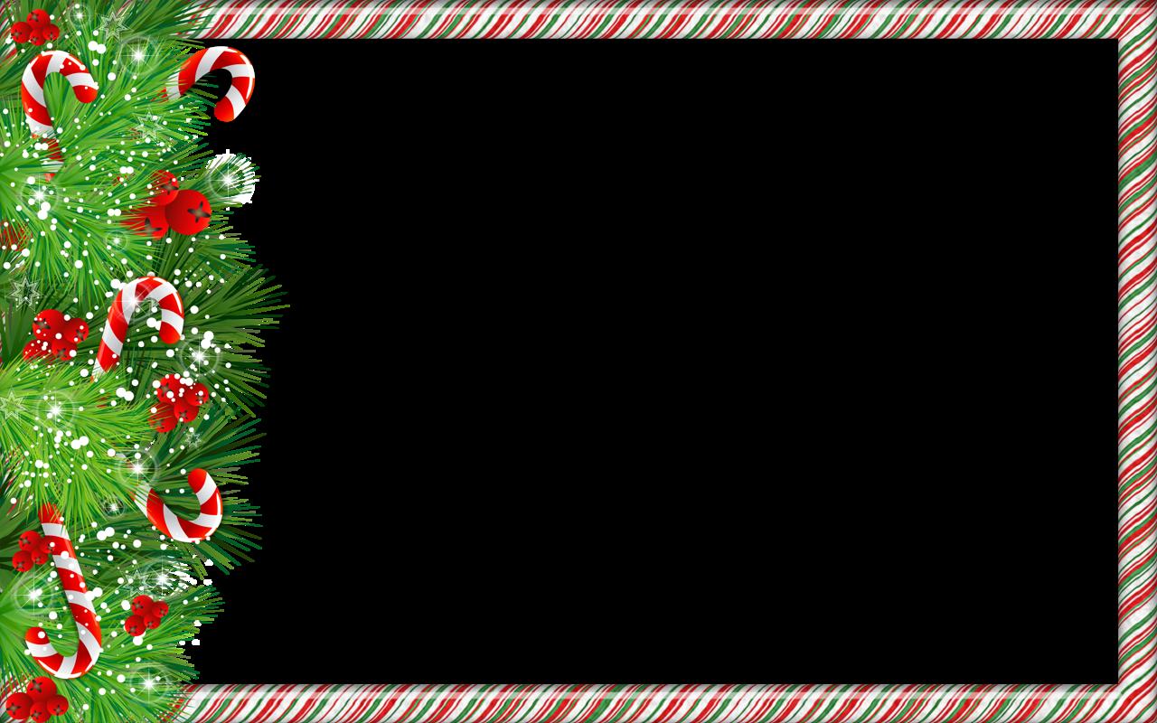 ChristmasPngPhotoFrameWithCandyCanesPng  Cardboard Paper