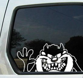TAZZ TAMANIAN DEVIL WAVE WINDOW DECAL STICKER CAR WINDOW ColorW - Window decals for cars