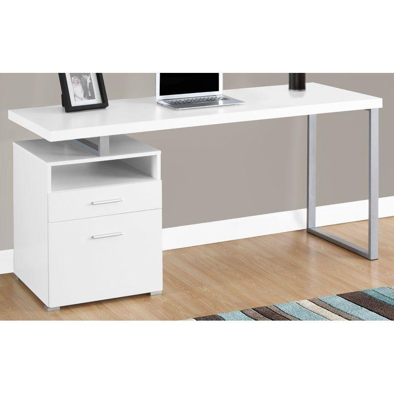 Kornegay Desk In 2020 Desk White Desk Wayfair Desk Storage