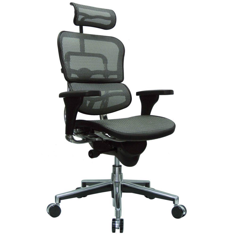 Ergohuman mesh swivel chair with headrest mesh chair