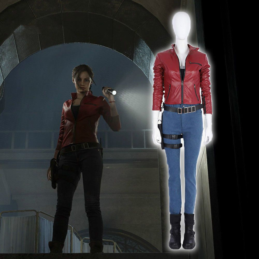 Claire Redfield Cosplay Costume Adult Halloween Women Costumes Outfits