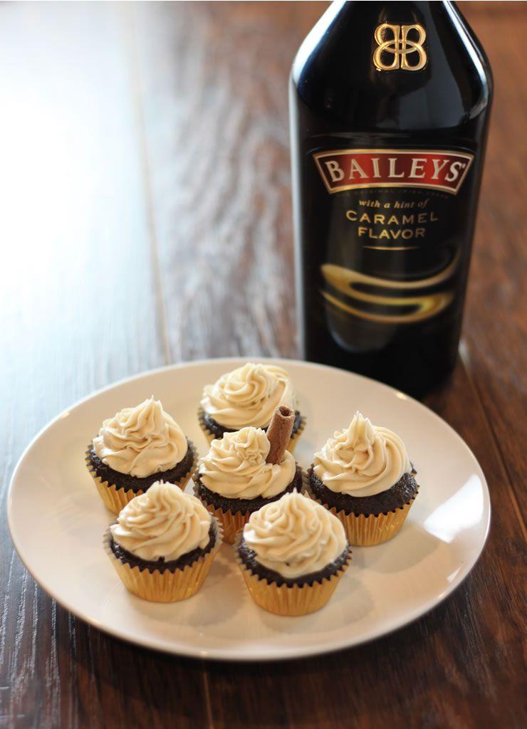 Caramel Baileys Cupcakes Baking Smarter Recipe Baileys Cupcakes Cupcake Recipes Chocolate Cupcake Recipes