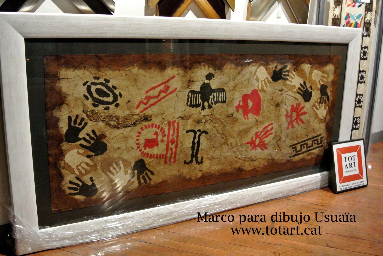 Marco para cuadro original Usuaïa enmarcado en tienda de cuadros y ...