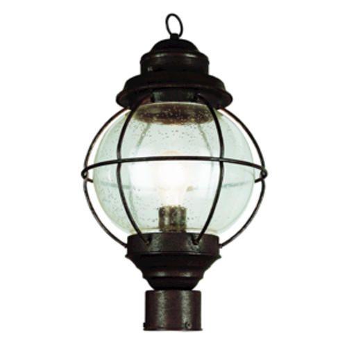 Onion Lantern 1 Light 19 Rustic Bronze Post At Menards