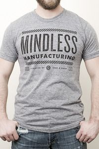 Mindless Manufacturing / Sheep / Thinking for yourself. Nice Shirt nice message