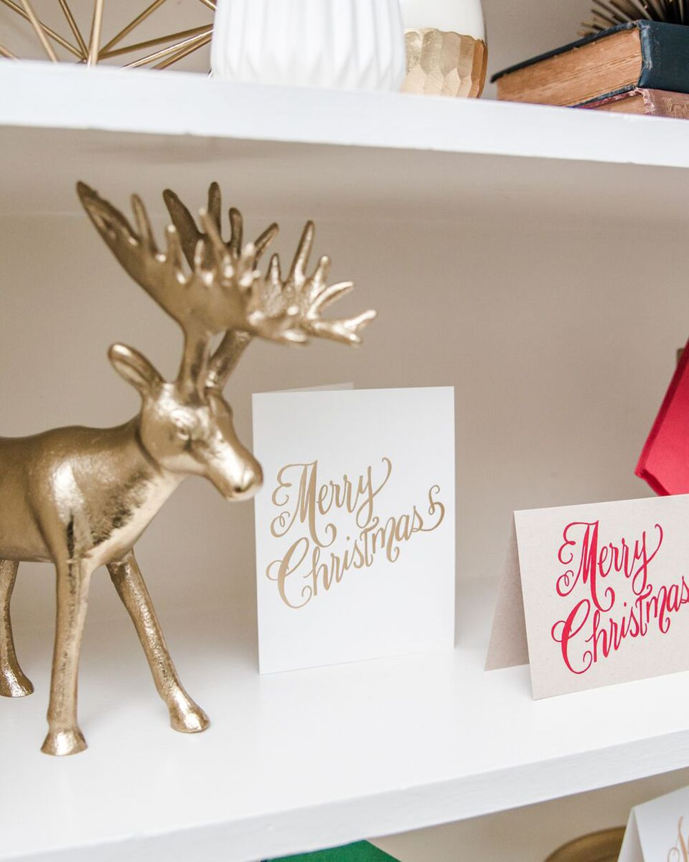 Gold Foil Christmas Cards by Laura Hooper Calligraphy