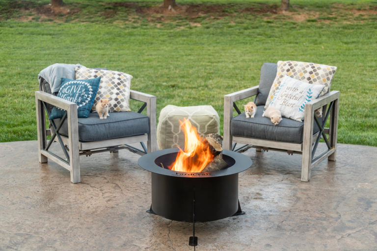 The Baron Steel Fire Pit Steel fire pit, Outdoor decor