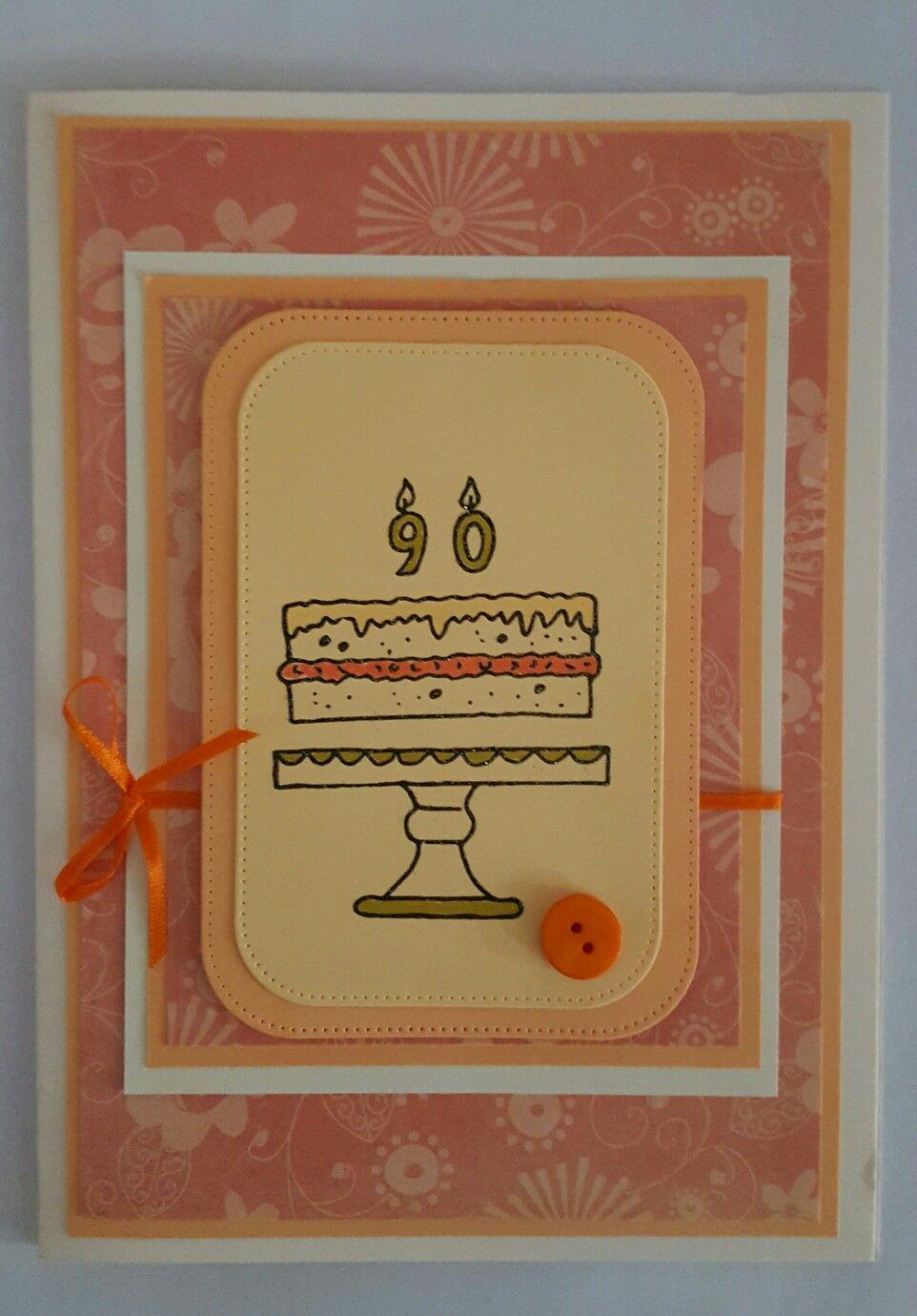 90 th birthday card 90th birthday cards, Birthday cards