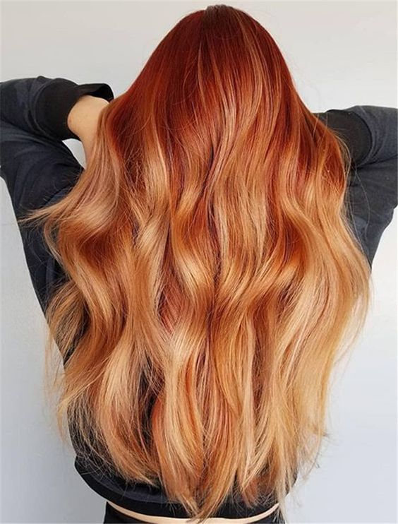 10 Different Red Hair Colors That The Blondes Can On Try This Spring In 2020 Ginger Hair Color Red Hair Color Strawberry Blonde Hair