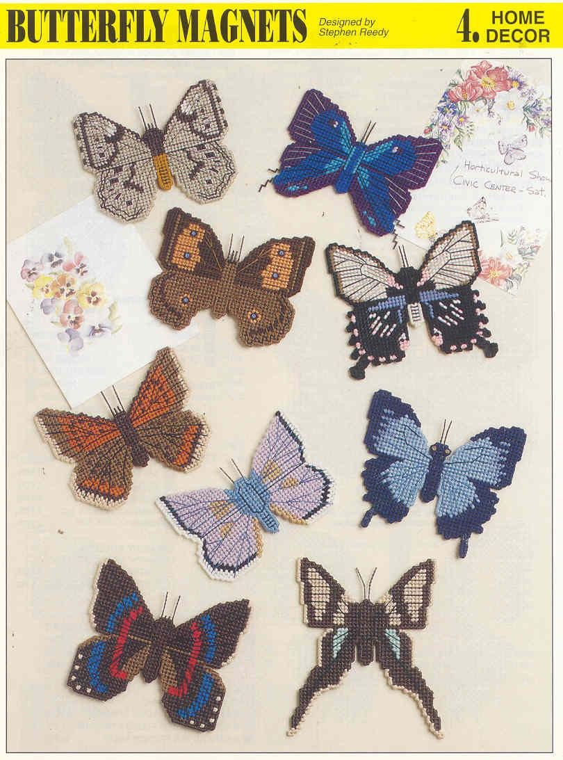 Free Plastic Canvas Magnet Patterns | BUTTERFLY MAGNETS ... - photo#10