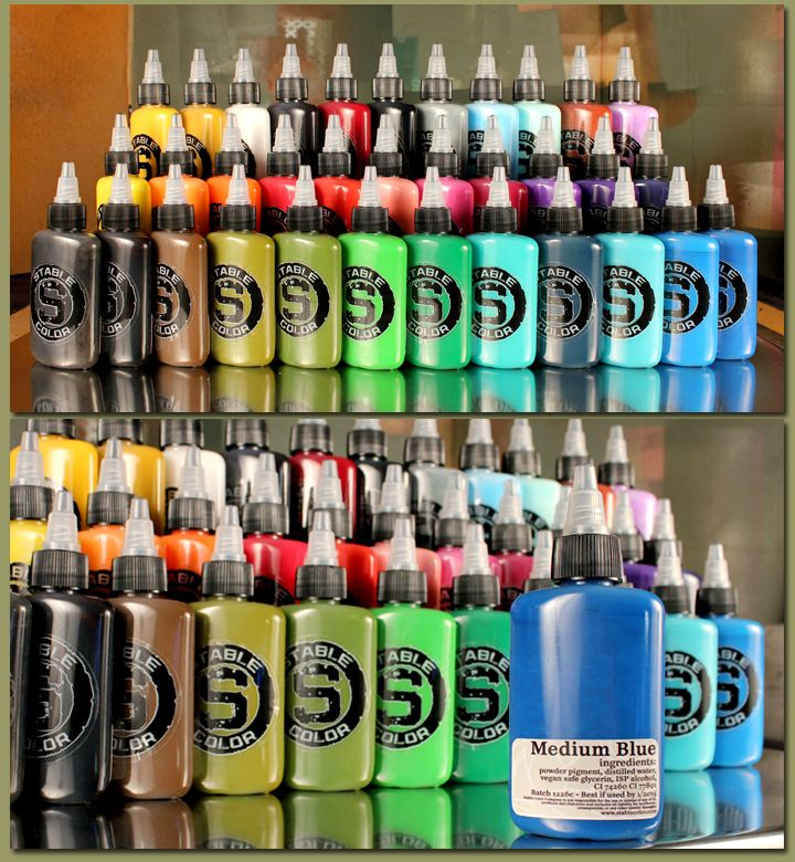tattoo ink Stable 34 Color Ink Set Ink tattoo, Tattoo