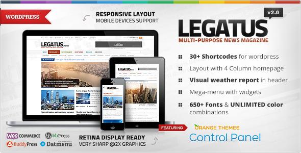 Legatus - Responsive News/Magazine Theme . Legatus is a clean ...