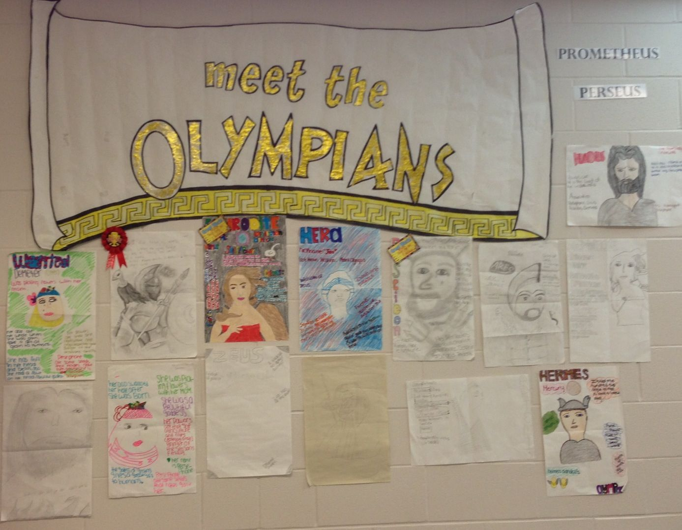 Students Drew Their God Or Goddess Of Choice As A Wanted