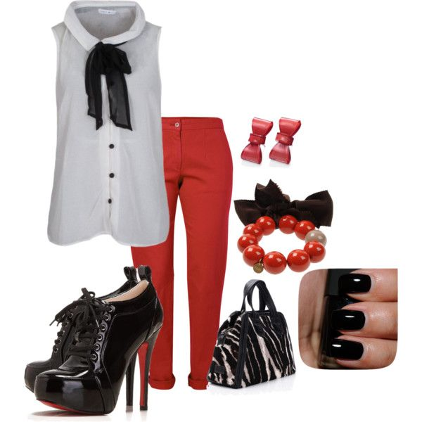 """""""Black and red"""" by kirsten-baptiste on Polyvore"""